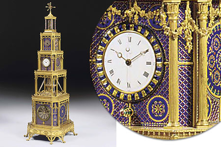 Michael Clerizo - Elaborate clock for Chinese market